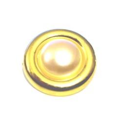 Bouton doré à teindre en taille 27 mm à coudre.
