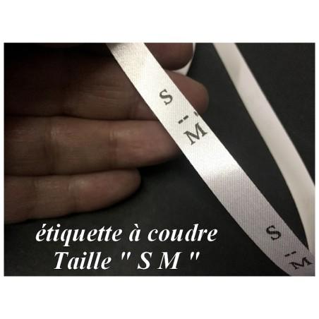 """Etiquette De Vêtements """" S M """" Par 1000 Pièces A Coudre De Composition Textile , Contexture Pour Confection."""