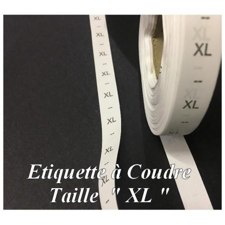 """Etiquette De Vêtements Taille """" XL """" Par 1000 Pièces A Coudre De Composition Textile , Contexture Pour Confection."""