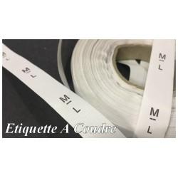 """1000 Etiquette De Vêtements Taille """" ML """" A Coudre De Composition Textile , Contexture Pour Confection."""