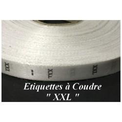 """1000 Etiquettes De Vêtements Taille """" XXL"""" A Coudre De Composition Textile , Contexture Pour Confection."""