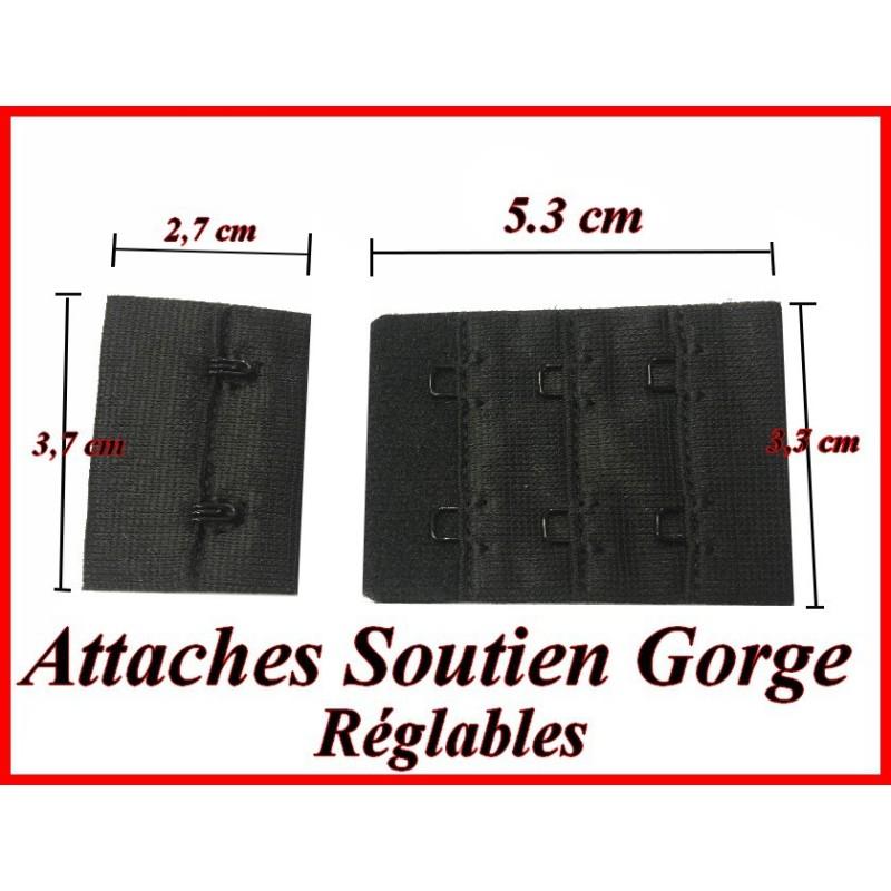 Attaches , Agrafes, Soutien Gorge Noir Rallonges Réglables