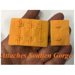 Attaches , Agrafes, Soutien Gorge Orange Rallonges Réglables