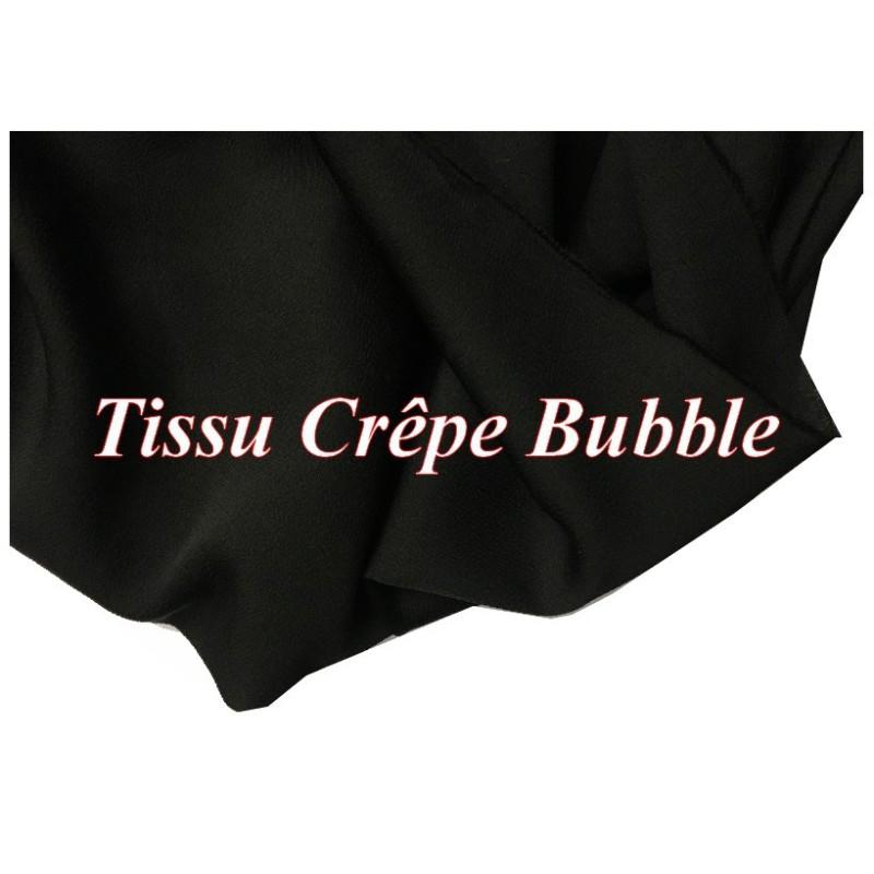 Tissu Crêpe Bubble Au mètre Blanc Uni A Coudre.