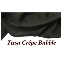 Tissu Crêpe Bubble Au mètre NOir Uni A Coudre.