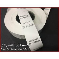 """Etiquettes De Vêtements """" 100 % Coton """" x Par 800 Pièces A Coudre De Composition Textile , Contexture."""