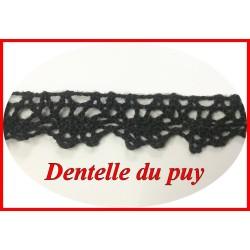 Dentelle Du Puy En 12 mm Noir A Coudre Pour Customisations.