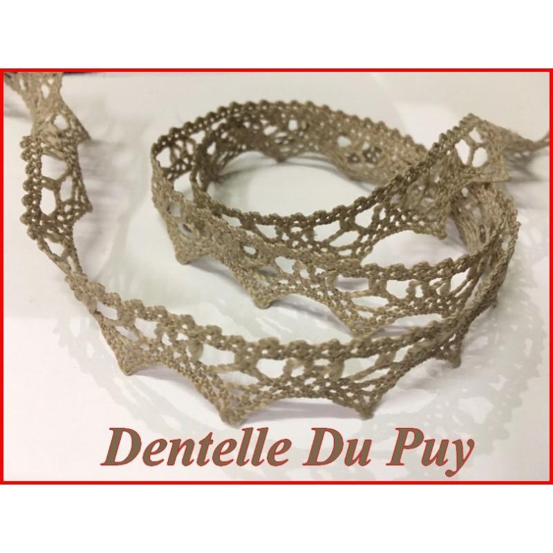 Dentelle Du Puy En 16 mm Taupe Au Mètre A Coudre Pour Customisations.