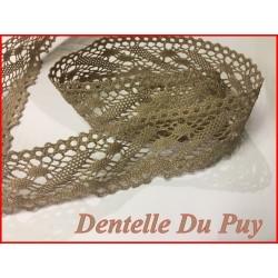 Dentelle Du Puy En 35 mm Taupe Au Mètre A Coudre Pour Customisations.