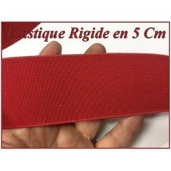 Elastique Rouge Plat Rigide En 5 Cm Au Mètre A Coudre Pour Ceintures Loisirs Créatifs La Customisations.