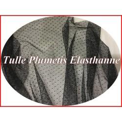Tulle Plumetis Elasthanne Noir En Résille Au Mètre Pour Justaucorps.