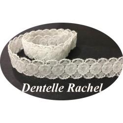 Dentelle Rachel Blanche en 12 mm Au mètre A Coudre Pour Lingerie, Décorations Et Loisirs Créatifs.