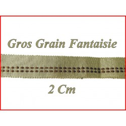 Gros grain en 2 cm Fantaisie Couleur Sable A Coudre.
