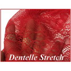 Dentelle Rouge Brodé lycra Grande Largeur Pour Lingerie, décorations, Et Customisations.