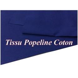 Tissu Popeline Bleu Indigo En Coton Au Mètre En Grande Largeur