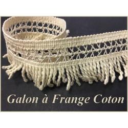 Frange Coton Ecru En 5 Cm Au Mètre A Coudre Pour Loisirs Créatifs.