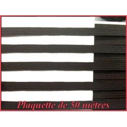 Plaquette De 50 Mètres D'élastique Plat 6 mm Noir ou Blanc Couture