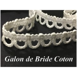 Galon De Bride COton Blanc A Coudre. Pour Customisations De Vetements