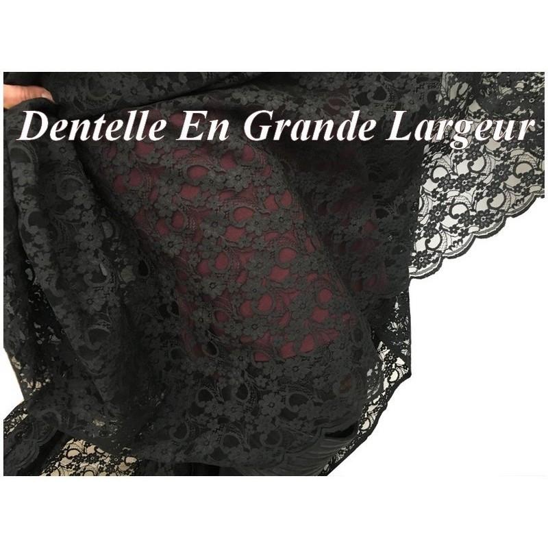 Dentelle Noir En Grande Largeur Couture Pour décorations Et Customisations.