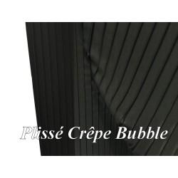 Tissu Plissé En Crêpe Noir Bubble A Coudre, Pour Chemisers, Jupes.