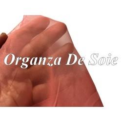 Tissu Organza De Soie Vieux Rose Au Mètre Couture.