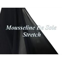 Tissu Mousseline De Soie Stretch Bleu Marine Couture Au Mètre.