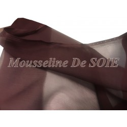 Tissu Mousseline De Soie Prune Couture Au Mètre.