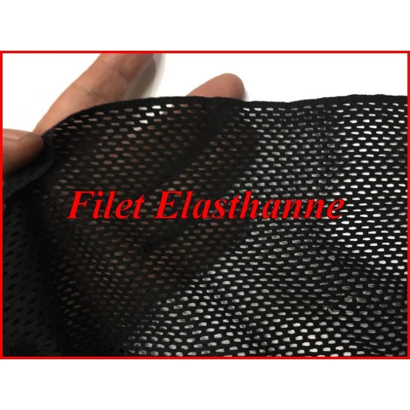 Tissu Filet Lycra au Mètre Noir Pour Danse Et Lingerie.