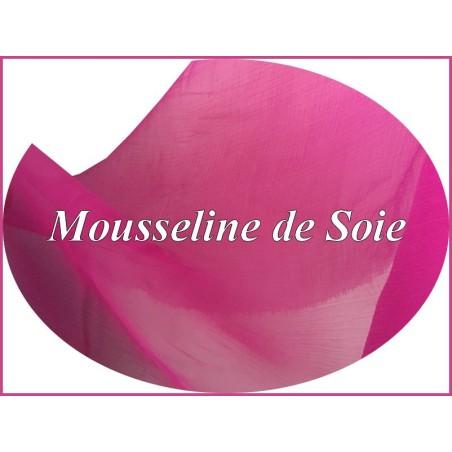 Tissu Mousseline De Soie Fushia Au Mètre Pas cher Couture