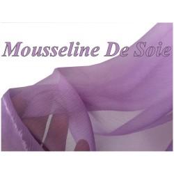 Tissu Mousseline De Soie Parme Au Mètre Pas cher Couture