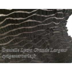Dentelle Lycra Au Mètre En Grande Largeur Noir