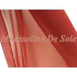 Tissu Mousseline De Soie Rouille Au Mètre Pas cher Couture