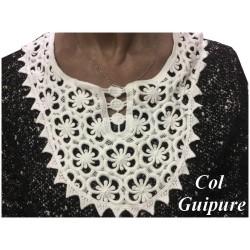Col En Guipure Dentelle Blanc A Coudre Pour Customisations.