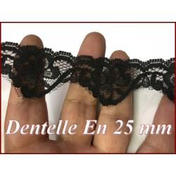 Dentelle Fixe Noir 2,5 cm A Coudre Pour Loisirs Créatifs.