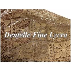 Dentelle Fine Beige Lycra Au Mètre En Grande Largeur Pour Lingerie et customisations.