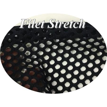 Tissu Filet Lycra au Mètre Noir en 1 m 65 De Largeur Pour Lingerie Et Danse