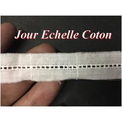 Jour Echelle En 15 mm Blanc COton En Broderie Anglaise , à coudre