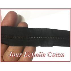 Jour Echelle En Broderie Anglaise 25 mm Noir, A Coudre, Pour Loisirs Créatifs.