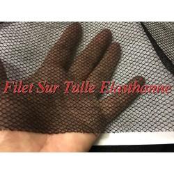 Tissu Filet Sur Tulle Résille Lycra Elasthanne Au Mètre Noir Pour Lingerie justaucorps