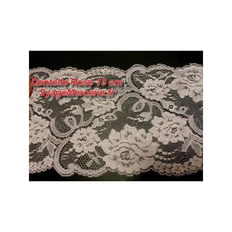 Dentelle Couture En 13 Cm Rose A Coudre pour loisirs Créatifs Et Décorations.