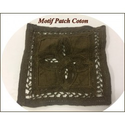 Motif Patch En Coton Choco A Coudre Pour Customisationsn