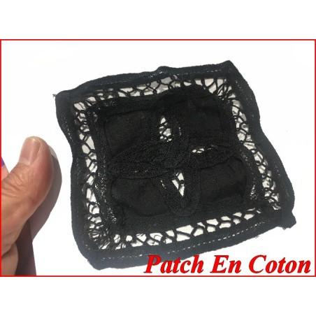 Motif Patch En Coton noir A Coudre Pour Customisationsn