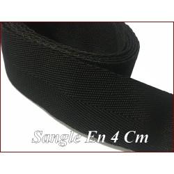 Sangle Noir Polypropylène Au Mètre En 4 Cm Pour Centures Et Sacs.