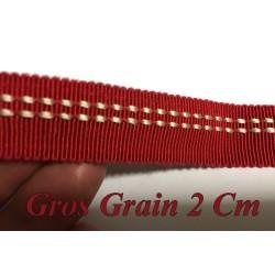 Ruban Gros Grain Rouge en 2 cm Fantaisie A Coudre.