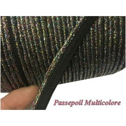 Passepoil Multicolore Cuivré Lurex Pour Finitions Et Bordure De Vetements