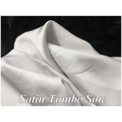 Tissu Satin Blanc Tombé Soie Au Mètre