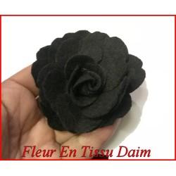 Fleurs Noir Broche En Daim A coudre Pour La Décoration Et Customisation