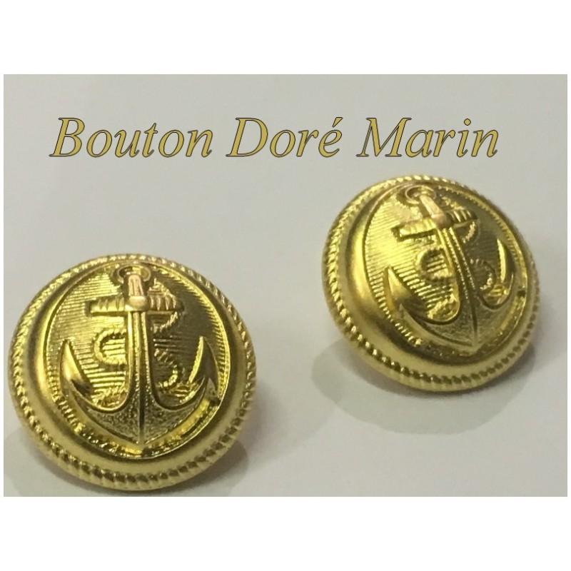 Bouton Doré Ancre Marin A Coudre