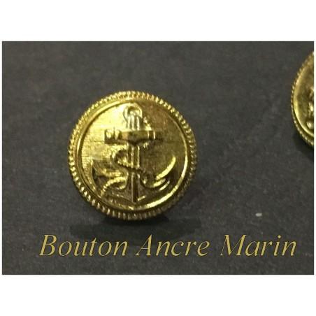 Bouton Doré Ancre Marin En Taille 12 mm A Coudre
