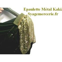 Epaulette Tissu Mètal Kaki